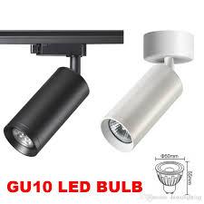 led ceiling track lights 2018 led track light spotlight gu10 led rail l iluminacao