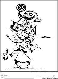 nightmare before christmas coloring pages shimosoku biz