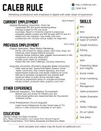 Online Resume Site by The Résumé U2013 Caleb Rule