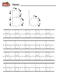 free handwriting worksheets for kindergarten block style print