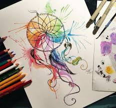 katy lipscomb tattoo watercolor dreamcatcher tattoo ideas
