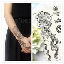 j001 j045b wholesale black lace tattoos temporary water based