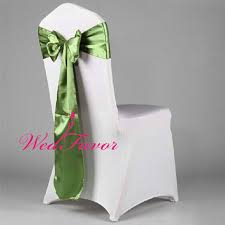 Chair Ties Online Shop Wedfavor 100pcs Olive Green Banquet Satin Chair Sashes