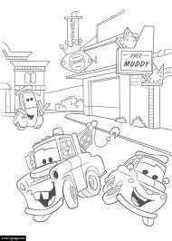 cars mater luigi guido printable coloring ecoloringpage