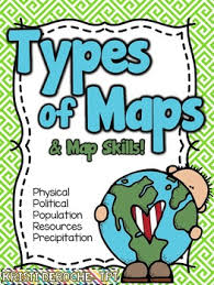 map types types of maps and map skills pack social studies grades 2 5 by