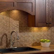 fasade kitchen backsplash classic kitchen ideas with fasade cracked copper tile backsplash