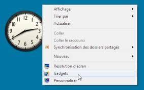 gadgets du bureau désactiver les gadgets du volet windows sous windows seven
