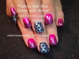 robin moses nail art fuchsia nail art glitter nail art chanel