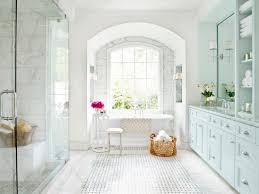 Ideas Design For Arched Window Mirror Decorating Basket Weave Tile Flooring With Arch Window Plus White