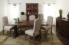 chic trestle table in dining room industrial with warehouse next