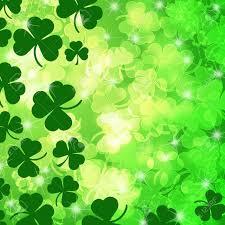 lucky irish shamrock leaf bokeh background illustration stock