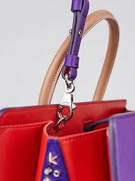 christian louboutin purple grained leather large paloma tote bag
