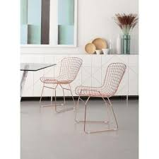Gold Dining Chairs Zuo Gold Steel Wire Dining Chair Set Of 2 100361 The Home