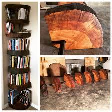 tree of knowledge bookshelf with live edge finish album on imgur