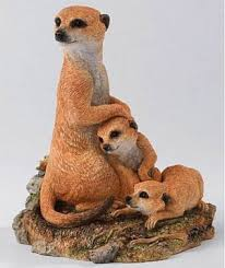 meerkat ornament figurine country artists meerkat standing