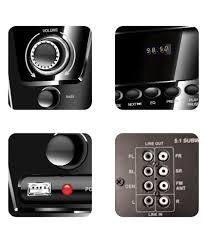 home theater in flipkart buy flow flash 5 1 speaker system online at best price in india