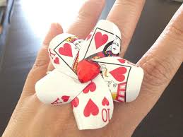 poker card flower hair clip pin dollar store crafts playing