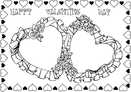 valentine rose coloring pages getcoloringpages