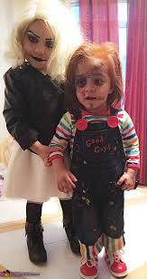 Toddler Chucky Costume And Tiffany Bride Of Chucky Costume