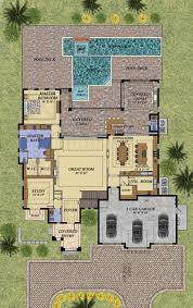 Mediterranean Style House Plans by Mediterranean Style House Plan 4 Beds 5 50 Baths 4167 Sq Ft Plan