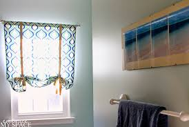 Small Bathroom Window Curtains by Decor U0026 Tips Small Bathroom Design With Diy Window Treatments And