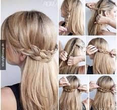 Hochsteckfrisurenen Selber Machen Glatte Haare by Die Besten 25 Flechtfrisuren Selber Machen Ideen Auf