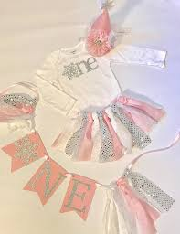 winter onederland high chair banner snowflake