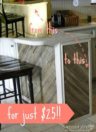 Kitchen Island Makeover Diagonal Planked Reclaimed Wood Kitchen Island Remodelaholic