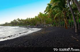black sand beach hawaii punaluu black sand beach big island