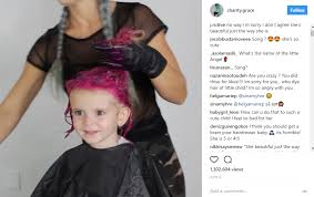 clarifying shoo for coloured hair social media star charity grace dyes her daughter s hair pink