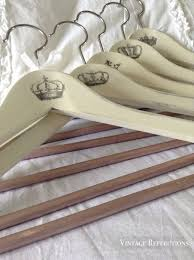 How To Shabby Chic Paint by Ikea Wood Hangers Transformed Into Shabby Chic French Hangers