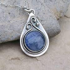 silver pendant necklace handmade images Handmade sterling silver bezel set kyanite teardrop pendant jpg