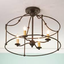 wrought iron flush mount lighting wrought iron frame ceiling lantern ceiling light wrought iron