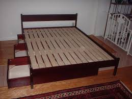 Building A Platform Bed Frame With Drawers by Bed With Storage Underneath Plans Medium Size Of Bed Bed Pottery