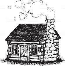 log cabin drawings sketchy log cabin stock vector art more images of cartoon