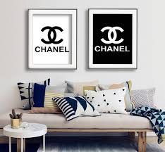 chanel logo print chanel logo poster paris fashion print zoom