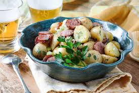 cafe lynnylu sausage potato salad gromperenzalot luxembourg cuisine