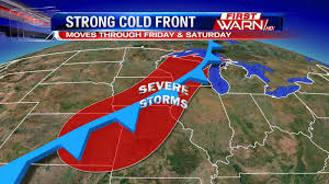 Frontal Boundary Map First Warn Weather Team Strong Cold Front This Weekend