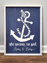 Best Love Anchors The Soul - framed wood signs graffiti paintbar