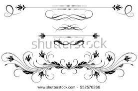 set vintage ornament decorative divider greeting stock vector