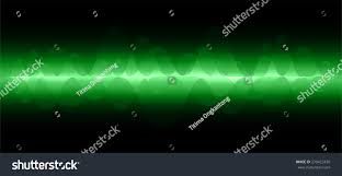 Sound Wave by Vector Dark Green Sound Wave Abstract Stock Vector 279422435