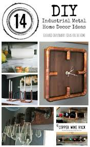 metal home decor diy industrial accessories and ideas