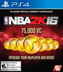 amazon com nba 2k16 75 000 vc playstation 4 digital code