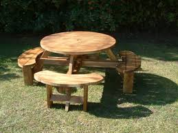 Plans For Round Wooden Picnic Table by Beautiful 4 Seat Picnic Table Diy Building Plans For A Picnic
