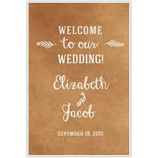 Wedding Seating Signs Welcome To Our Wedding Seating Sign Rustic Leaf Paper Blast
