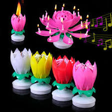 lotus birthday candle amazing musical rotating lotus flower birthday candle party