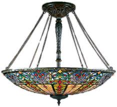 Stained Glass Light Fixtures Tiffany And Stained Glass Ceiling Lights Brand Lighting Discount