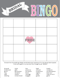 wedding words for bingo printable bridal bingo card print right from home bridal gift
