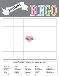 wedding words for bingo printable bridal bingo card print right from home bridal gift