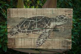 sea turtle painting sea turtle art lake house art lake house